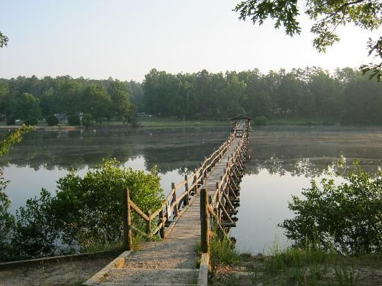 """Chickasaw State Park: One of our favorite """"cheap"""" vacations.  They have cabins on the lake & lots to see and do."""