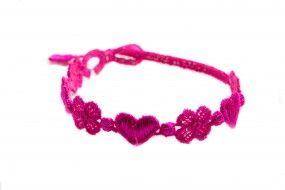 Cruciani Armband Liebe und Glück pink