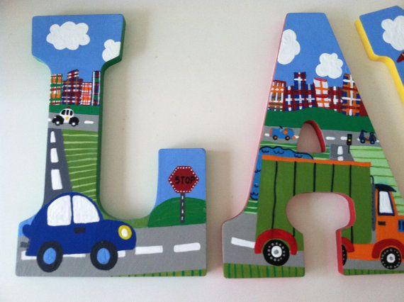 Custom peint mur lettres-camions voitures par LouieAndRose sur Etsy