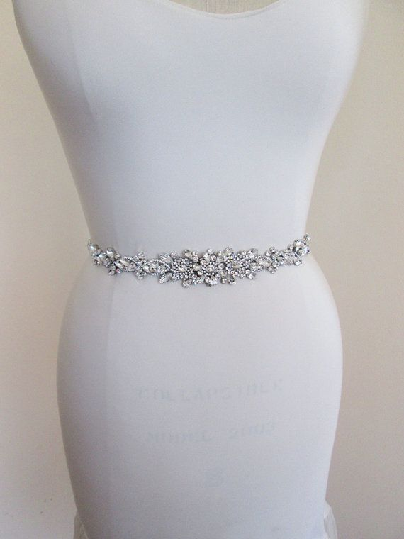 Wedding belt Bridal belt sash Crystal belts by SabinaKWdesign