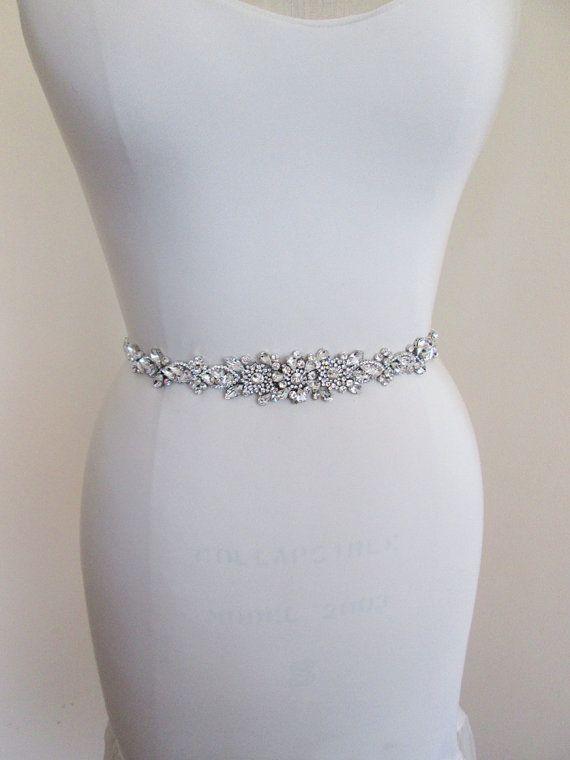 Wedding belt Bridal belt sash Crystal belts by SabinaKWdesign