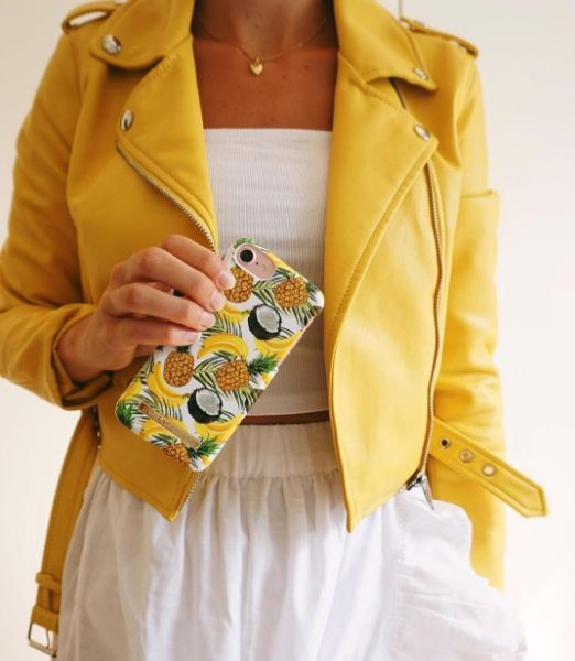 Banana Coconut by lovely @jstephanielinnea - Fashion case phone cases iphone inspiration iDeal of Sweden #Tropcial #pineapple #palms #leaf #pina colada #yellow #fashion #inspo #iphone