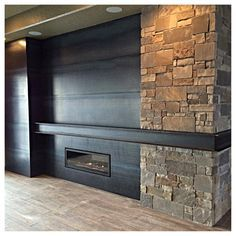 Mantle made from steel beam - Google Search
