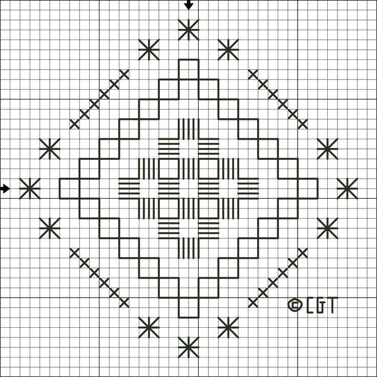 hardanger embroidery free patterns | Free Hardanger Steps and Stars Pattern - Free Printable Hardanger ...
