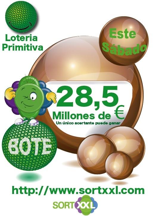 Todavia mas.....!!! Este sábado 28,5 Millones de € http://www.sortxxl.com/primitiva.php