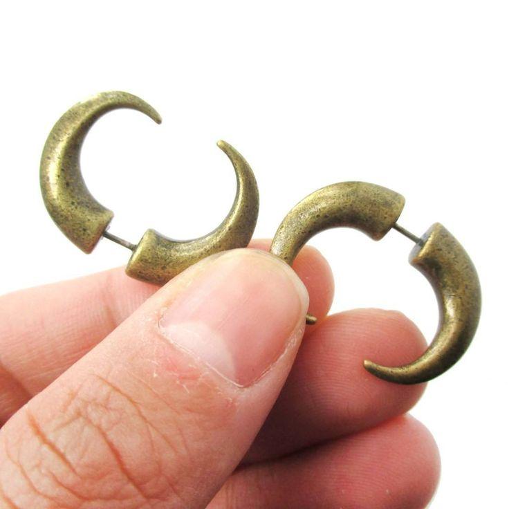 34 best Brass earrings images on Pinterest | Stud earring, Earring ...