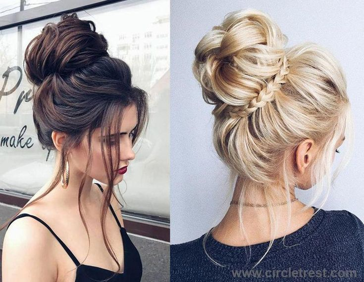 Easy Put Up Hairstyles | Female Long Haircuts | Elegant Buns For Medium Length H…