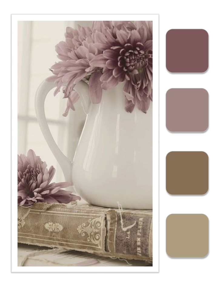 Dusty Plum, French Lavender, Herb and Taupe . . . colours for the Vintage or Country home.