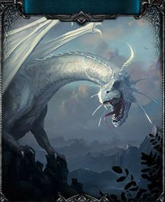 The white dragon, if you choose a dark path this dragon can be found blocking your way!