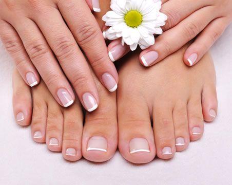 Todo Sobre Manos y Pies: Manicure y Pedicure Frances con Brillo