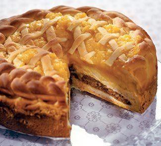 Новогодние десерты. Пирог с курагой и орехами