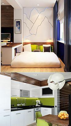 Дизайн однокомнатной квартиры на две зоны | Дом и Сад