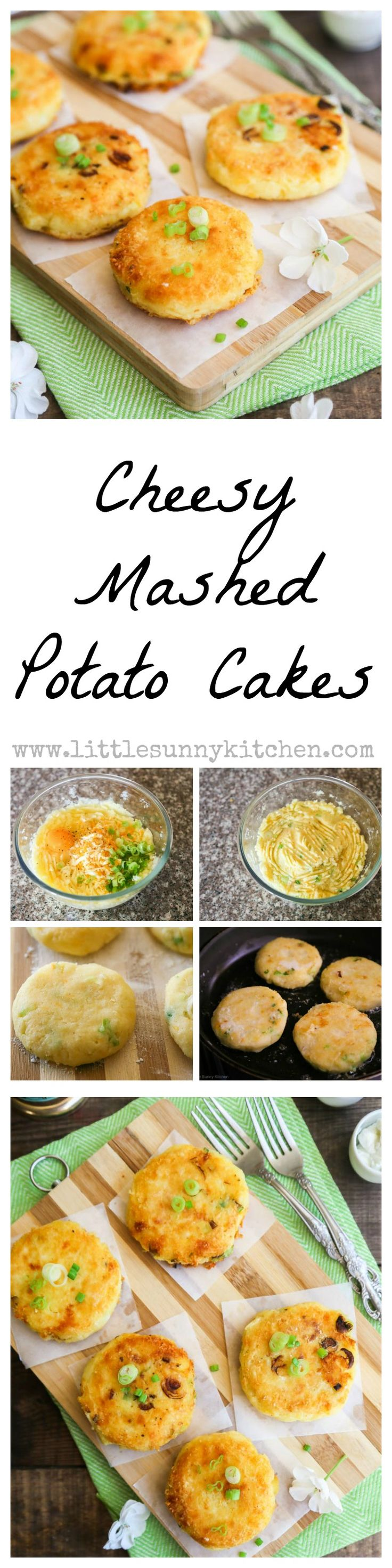 Cheesy Mashed Potato Cakes