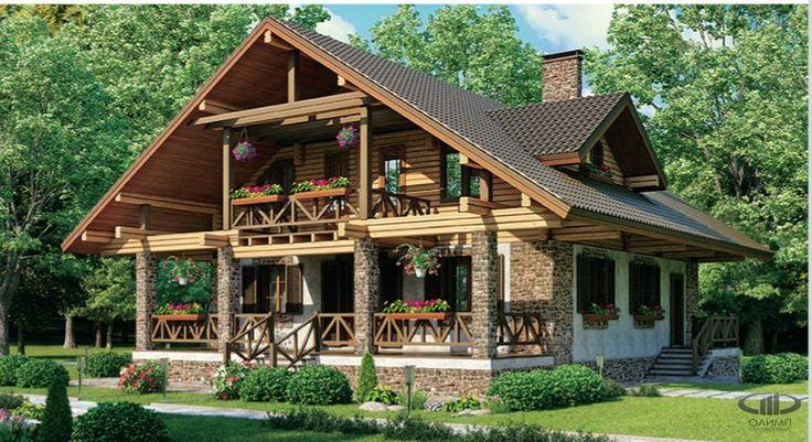проекты деревянных домов и коттеджей бесплатно чертежи и ...
