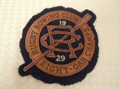 Nwot Ralph Lauren Rugby RARE Rowing Club Sew on Patch Wool / Felt and Leather