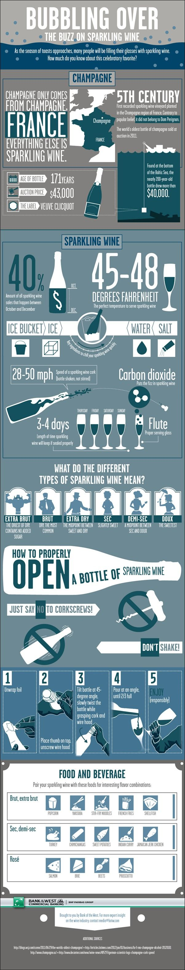 Bubbling Over The Buzz On Sparkling Wine Infographic
