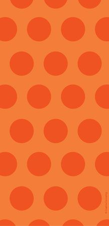 Cello Bags Two Tone Orange Dots 20pk