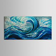 IARTS Oil Painting Modern Landscape Blue Ocean Waves Hand Painted Canvas with Stretched Frame – GBP £ 61.07