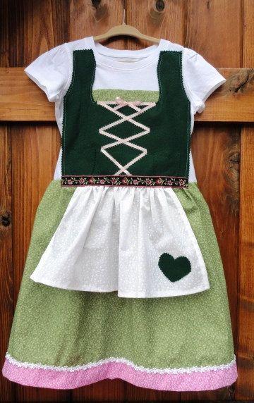 Little Girl German Dirndl Dress size Hansel by adasaccessories4me, $45.00