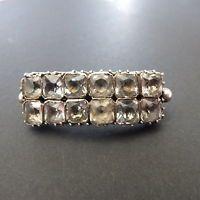 Antique Georgian Black Dot Silver Diamond Paste Lace Pin/Brooch