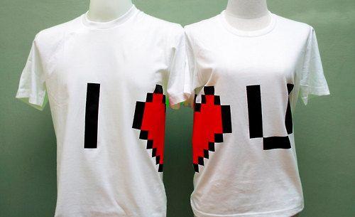 Playeras de pareja I [corazón] U | La Guarida Geek