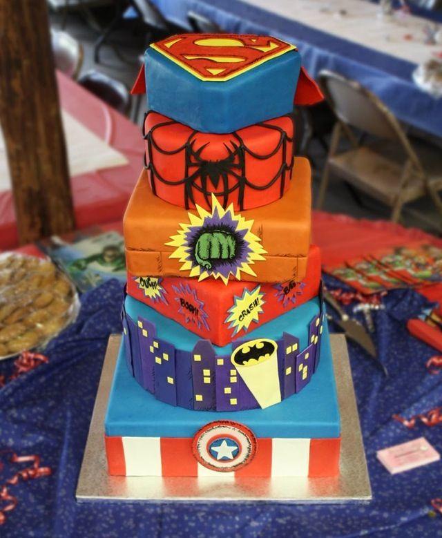 Cake Birthday Presents Comics Marvel Superhero Cakes