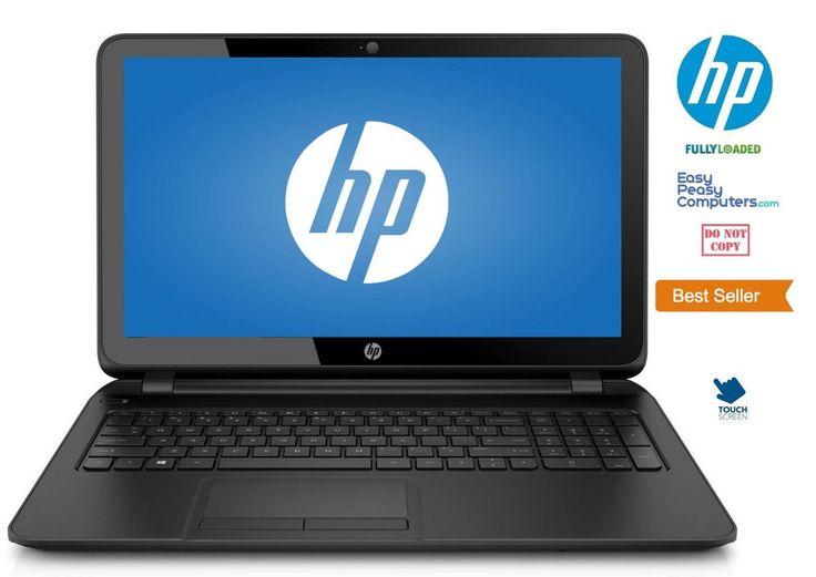 "Laptop Deals - NEW HP Laptop TouchScreen 15.6"" Windows 10 Webcam DVDRW 500GB 4GB (FULLY LOADED) #HP"