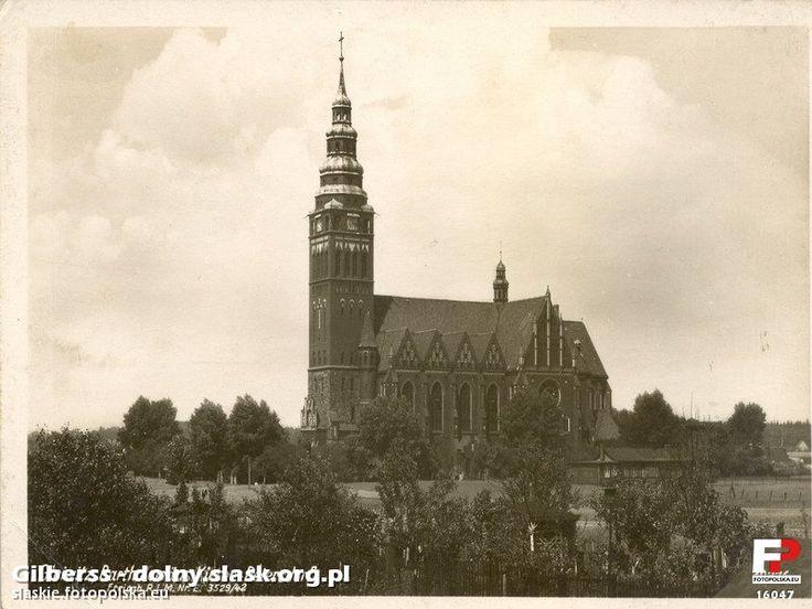 Kościół św. Bartłomieja, Gliwice - 1935 rok, stare zdjęcia