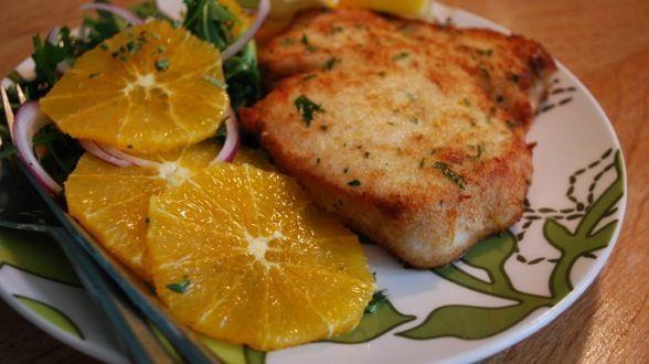 Pesce spada panato al forno