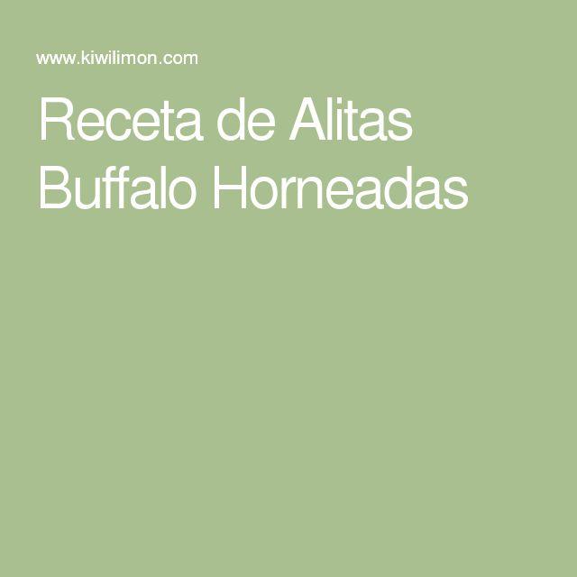 Receta de Alitas Buffalo Horneadas