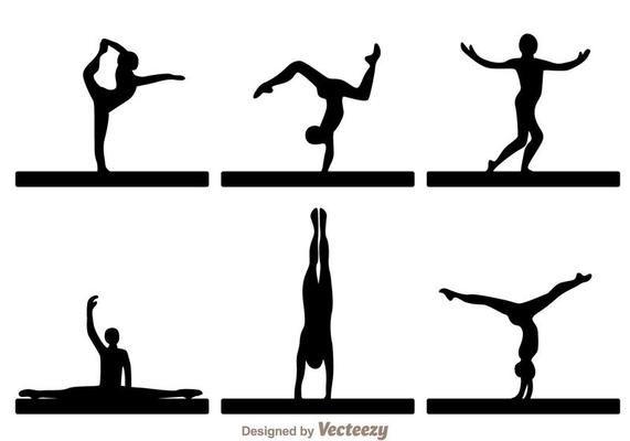 Female Gymnast Silhouette Executing A Flip Sportsartzoo Female Gymnast Gymnastics Wallpaper Gymnastics Tattoo
