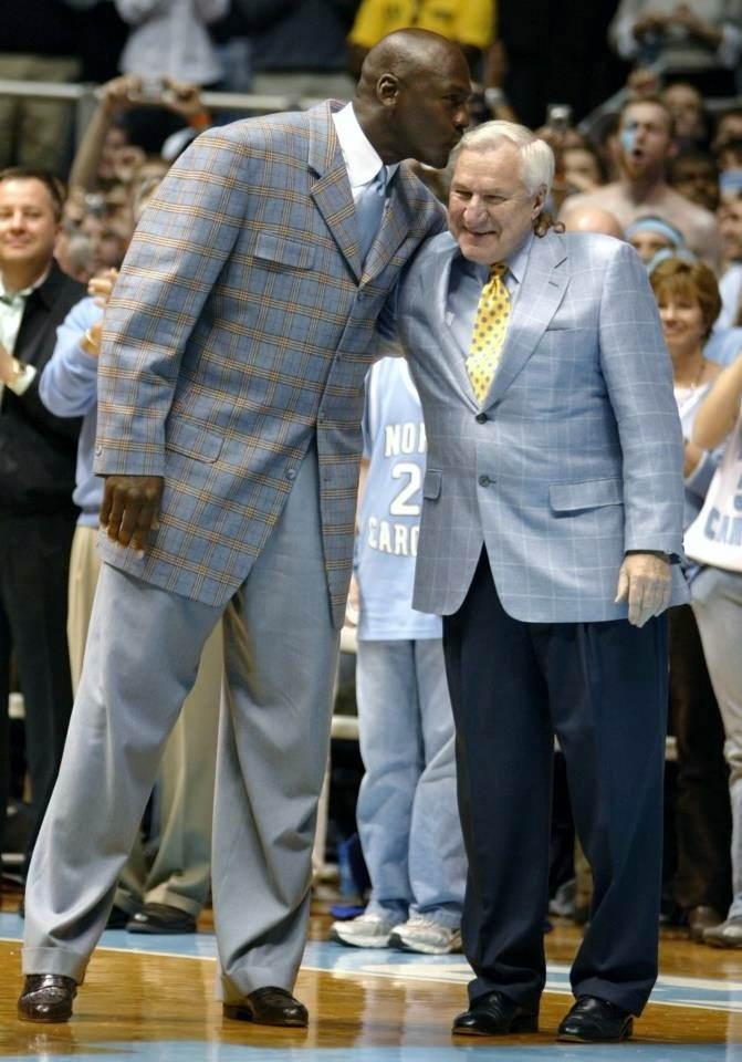 Michael Jordan and Dean Smith - love this picture. UNC-Chapel Hill Heroes!!! This has already been pinned but is SO priceless...a great moment back in time!!