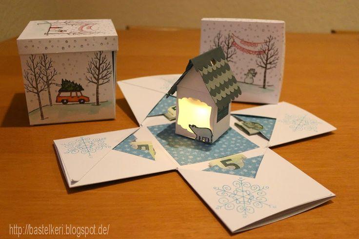 basteln mit stampin up explosionsbox mit licht im haus d. Black Bedroom Furniture Sets. Home Design Ideas