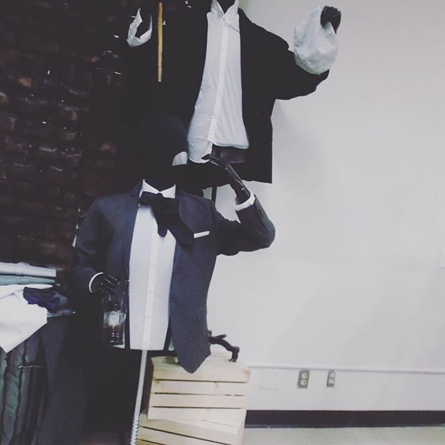 Dr. Jekyll and Mr. Hyde inspired display... Menswear course#MrHyde, #DrJekyll, #creepy, #stealing#tdbask