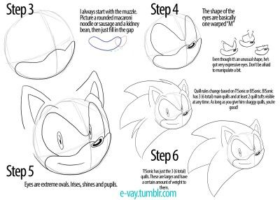 how to draw sonic step by step easy slow