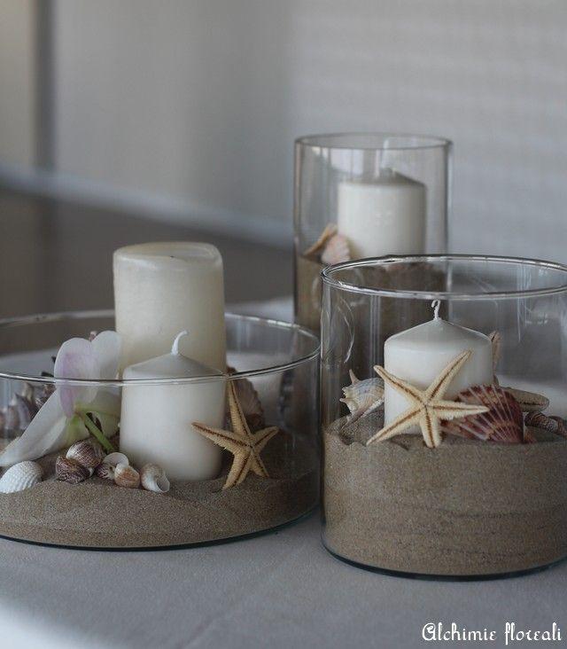 Tulle e confetti - centrotavola sposi conchiglie - Alchimie floreali