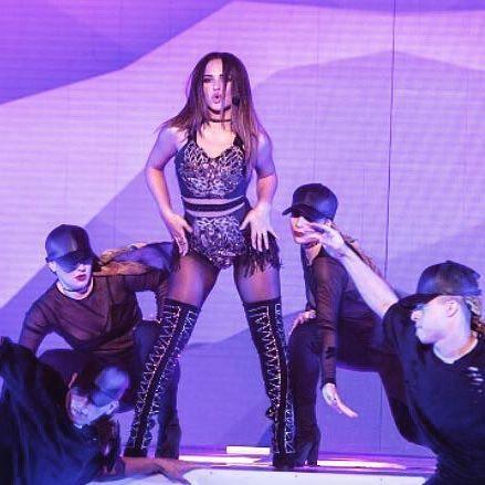 Becky G performing at La Banda