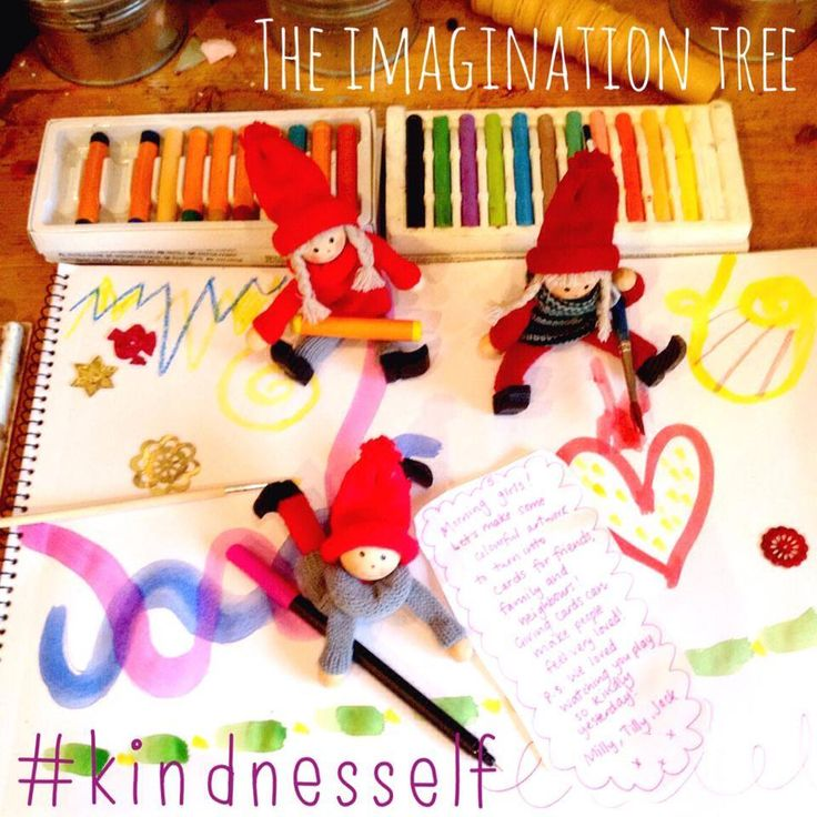 kindness elves artwork - 25 things kids can do to share kindness through December