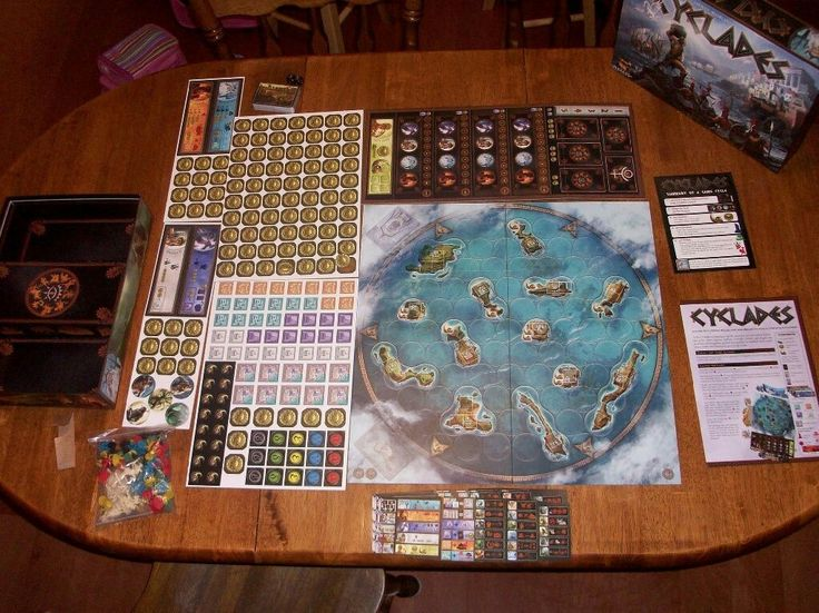 Cyclades board game components fun board games pnp