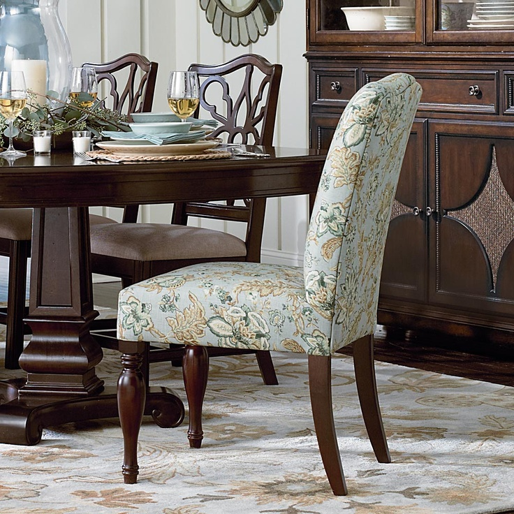 Bassett Dining Chair Abby In Pamplona COM Needs 3 Yards For Center Match Choice Of Finishes On Legs