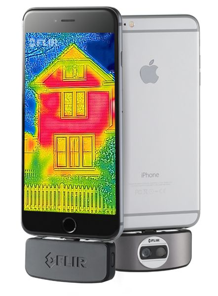 FLIR ONE thermal camera attachment for smartphones.  $250/iPhone with lightning connector, $250/Android with micro-USB, $150/iPhone5/5s.