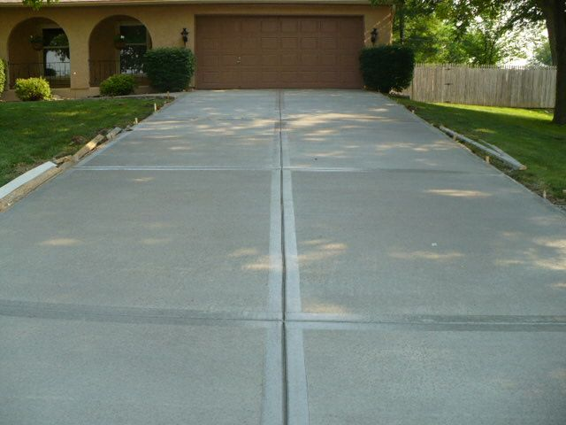 78 best concrete driveway finishes images on pinterest for Pouring your own concrete driveway