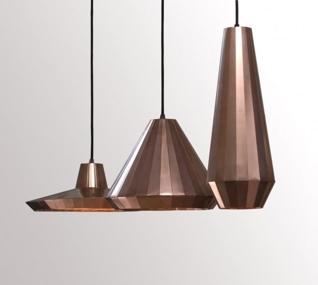 Copper pendant lights from David Derksen
