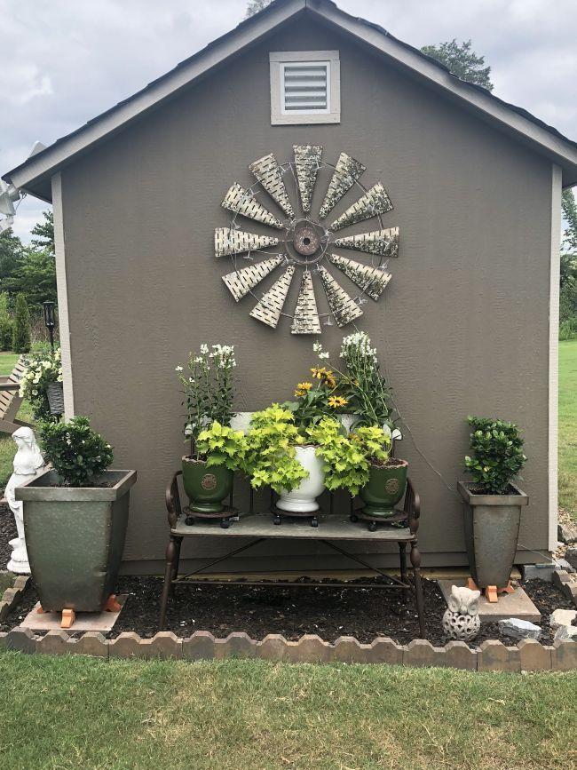 Front Walkway Idea Garden Shed Pinterest Backyard Garden Yard Ideas And G Backya In 2020 Shed Landscaping Garden Yard Ideas Small Front Yard Landscaping