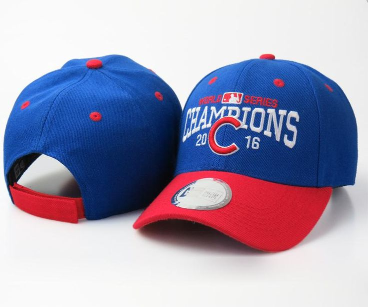 Men's / Women's Chicago Cubs New Era 2016 World Series Champions Adjustable Baseball Hat - Royal / Red