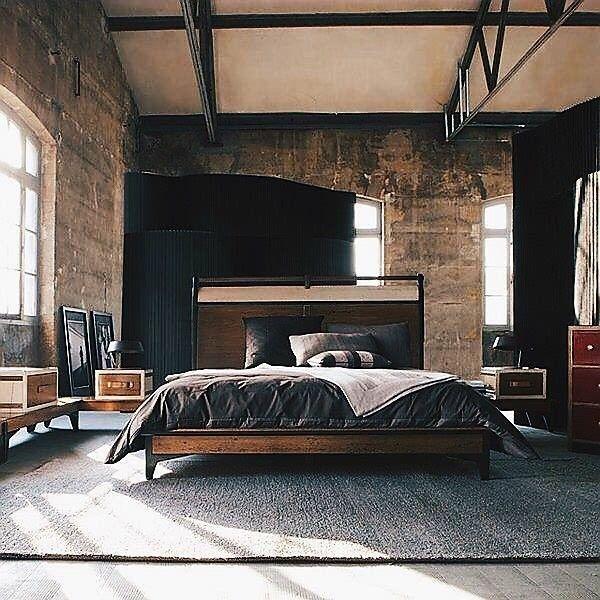 Industrial Style Leah Industrial Bedroom Design Loft Inspiration Masculine Bedroom Design