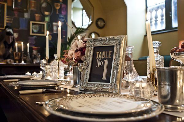 Dark & Decadent Speakeasy 1920s Wedding Ideas