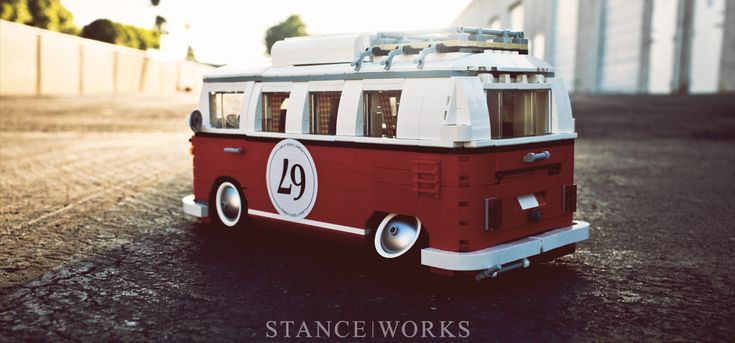 """""""slammed"""" LEGO VW bus- is that cool or what?"""