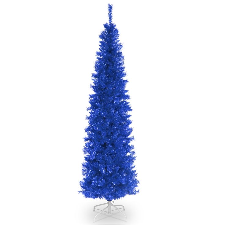 introduce brilliant color and a hip vibe to your holiday celebrations with this blue tinsel tree artificial christmas - Small Blue Christmas Tree
