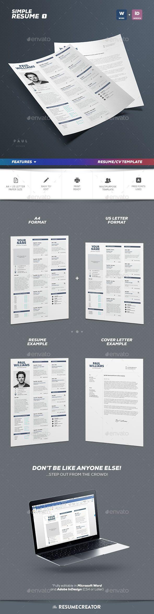 Simple Resume Vol.1 - Resumes Stationery